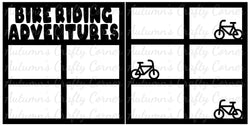 Bike Riding Adventures - Scrapbook Page Overlay Set - Choose a Color