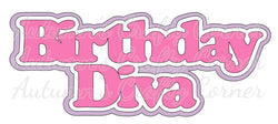 Birthday Diva - Deluxe Scrapbook Page Title