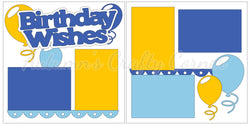 Birthday Wishes - Boy - Scrapbook Page Kit
