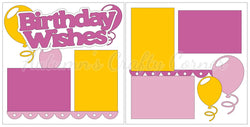 Birthday Wishes - Girl - Scrapbook Page Kit