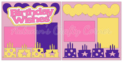 BIrthday Wishes - Scrapbook Page Kit