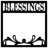 Blessings - Flourish - Scrapbook Page Overlay Die Cut - Choose a Color