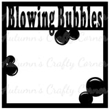 Blowing Bubbles - Scrapbook Page Overlay Die Cut - Choose a Color