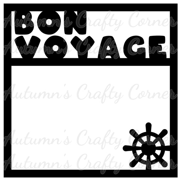 Bon Voyage - Cruise - Scrapbook Page Overlay Die Cut - Choose a Color
