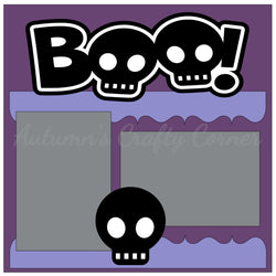 Boo! - Halloween - Single Scrapbook Page Kit