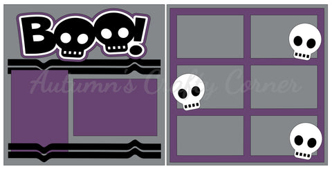 Boo - Skulls - Scrapbook Page Kit