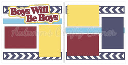 Boys Will Be Boys - Scrapbook Page Kit