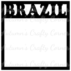 Brazil - Scrapbook Page Overlay Die Cut - Choose a Color