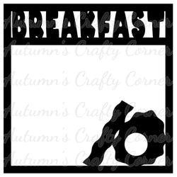 Breakfast - Scrapbook Page Overlay Die Cut - Choose a Color
