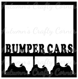 Bumper Cars - Scrapbook Page Overlay Die Cut - Choose a Color