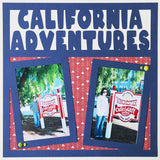 California Adventures - 2 Vertical Frames - Scrapbook Page Overlay Die Cut - Choose a Color