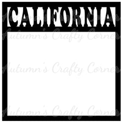 California - Scrapbook Page Overlay Die Cut - Choose a Color