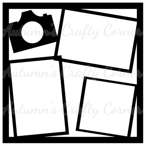 Camera - Frames - Scrapbook Page Overlay Die Cut