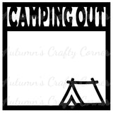 Camping Out- Tent - Scrapbook Page Overlay Die Cut - Choose a Color