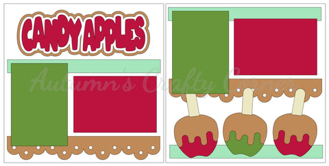Candy Apples - Scrapbook Page Kit