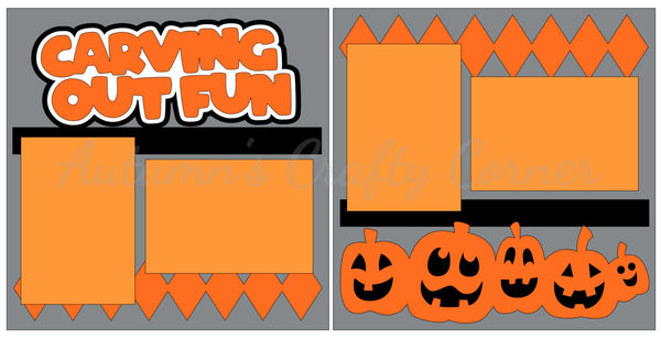 Carving Out Fun - Halloween - Scrapbook Page Kit