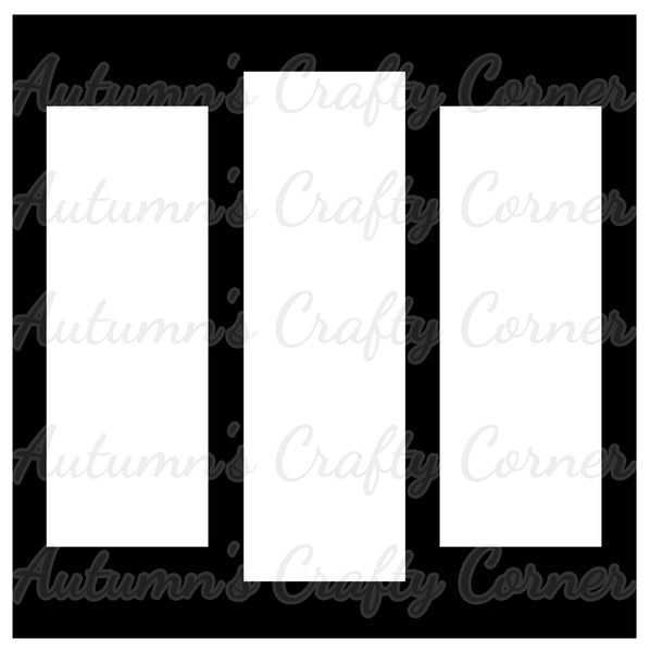 3 Cascade Frames - Scrapbook Page Overlay Die Cut - Choose a Color