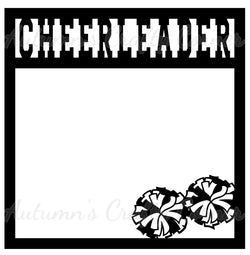 Cheerleader - Scrapbook Page Overlay Die Cut - Choose a Color