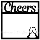 Cheers - Scrapbook Page Overlay Die Cut - Choose a Color