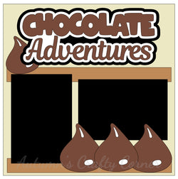 Chocolate Adventures - Single Scrapbook Page Kit