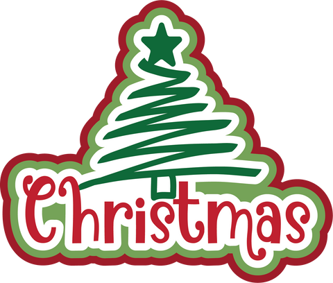 Christmas - Scrapbook Page Title Sticker