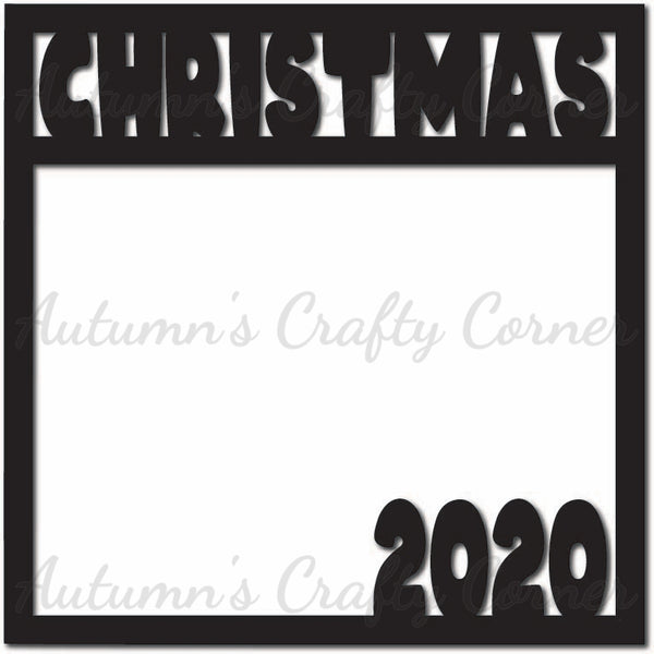 Christmas 2020 - Scrapbook Page Overlay Die Cut - Choose a Color