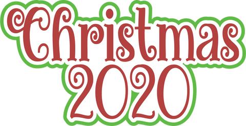 Christmas 2020 - Scrapbook Page Title Sticker