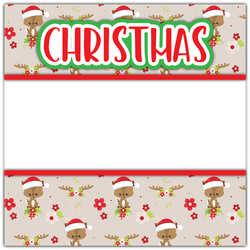 Christmas - Printed Premade Scrapbook Page 12x12 Layout