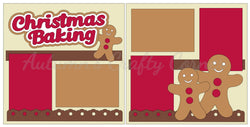 Christmas Baking - Gingerbread - Scrapbook Page Kit