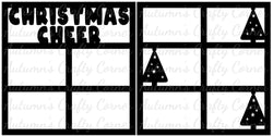 Christmas Cheer - Scrapbook Page Overlay Set - Choose a Color
