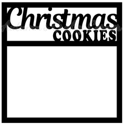 Christmas Cookies - Scrapbook Page Overlay Die Cut - Choose a Color