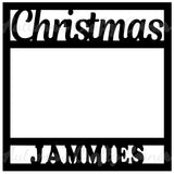 Christmas Jammies - Scrapbook Page Overlay Die Cut - Choose a Color
