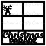 Christmas Parade - 4 Frames - Scrapbook Page Overlay Die Cut - Choose a Color
