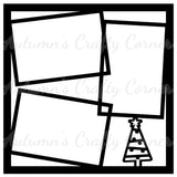 Christmas Tree - Frames - Scrapbook Page Overlay Die Cut - Choose a Color