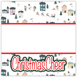 Christmas Cheer - Printed Premade Scrapbook Page 12x12 Layout