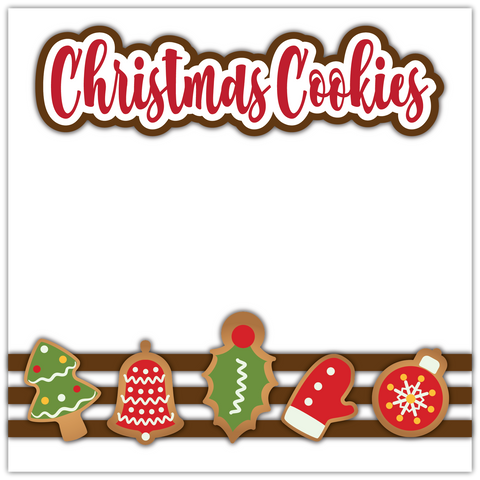 Christmas Cookies - Printed Premade Scrapbook Page 12x12 Layout