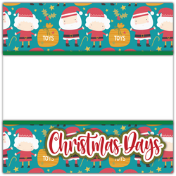 Christmas Days - Printed Premade Scrapbook Page 12x12 Layout