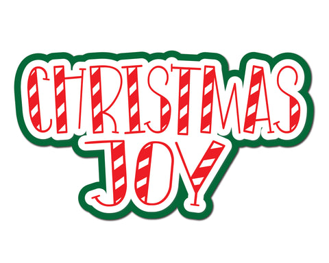 Christmas Joy - Scrapbook Page Title Sticker