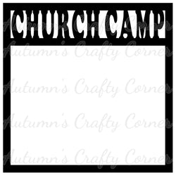 Church Camp - Scrapbook Page Overlay Die Cut - Choose a Color