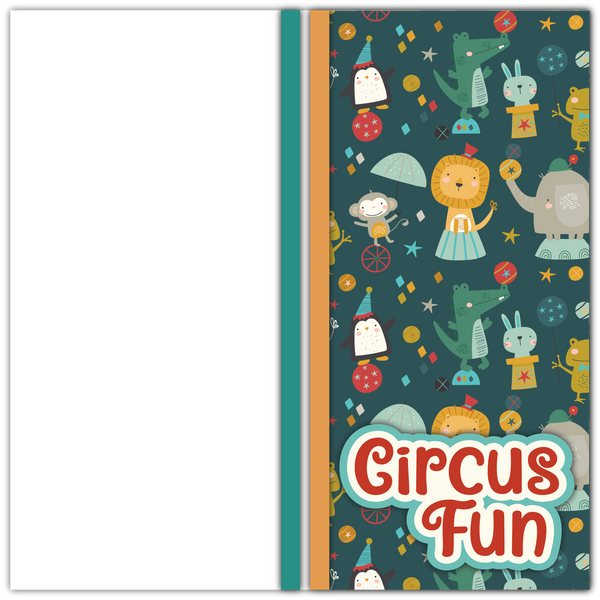 Circus Fun - Printed Premade Scrapbook Page 12x12 Layout