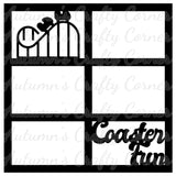 Coaster Fun - 6 Frames - Scrapbook Page Overlay Die Cut - Choose a Color