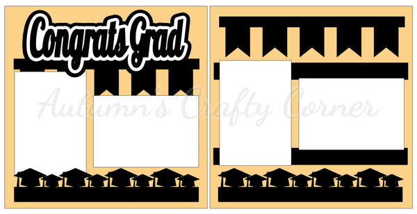 Congrats Grad - Scrapbook Page Kit