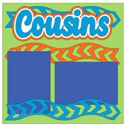 Cousins - Single Scrapbook Page Kit