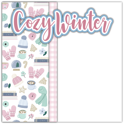 Cozy Winter - Printed Premade Scrapbook Page 12x12 Layout