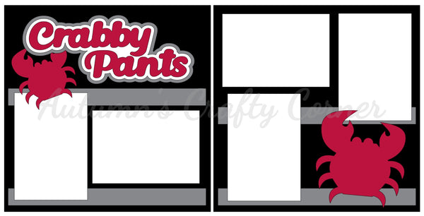 Crabby Pants - Scrapbook Page Kit