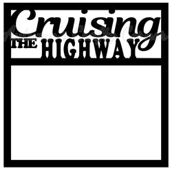 Cruising the Highway - Scrapbook Page Overlay Die Cut - Choose a Color