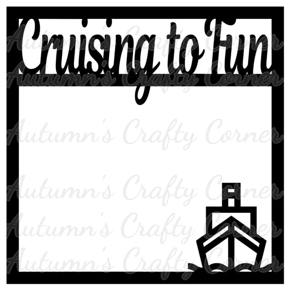 Cruising to Fun - Scrapbook Page Overlay Die Cut - Choose a Color