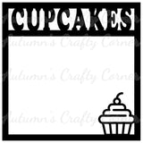 Cupcakes - Scrapbook Page Overlay Die Cut - Choose a Color