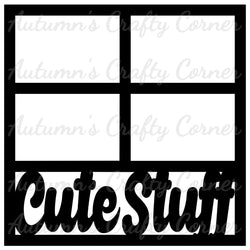 Cute Stuff - 4 Frames - Scrapbook Page Overlay Die Cut - Choose a Color