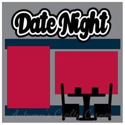 Date Night - Single Scrapbook Page Kit